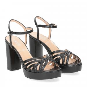 Il Laccio sandalo 2849 pelle nero