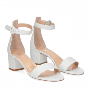 Il Laccio sandalo 669 pelle bianco