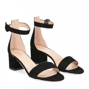 Il Laccio sandalo 669 camoscio nero