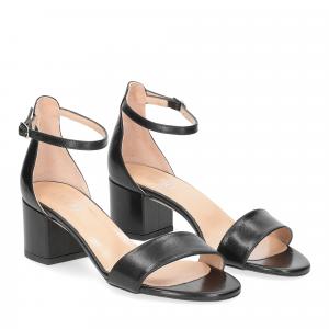 Il Laccio sandalo 684 pelle nero