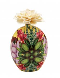 Diffusore di profumo barattolo floreale con fiore di carta