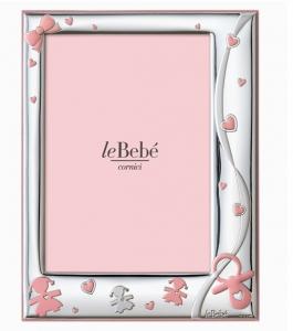 LeBebé Cornice Linea Ciuccio -Rosa, piccola 9x13