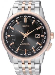 Citizen H804 Quadrante nero, cassa acciaio I.P oro rosa