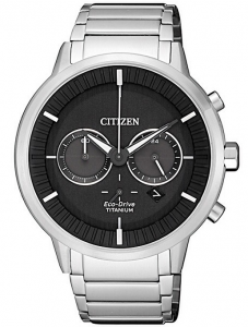 Citizen Modern design quadrante nero, Super Titanio PTIC
