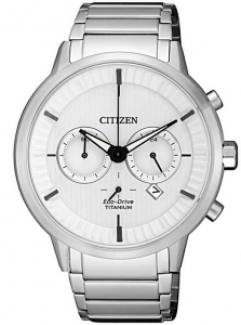 Citizen Modern design quadrante bianco, Super Titanio PTIC