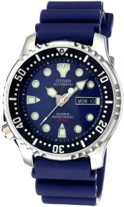 Citizen Diver Automatico cinturino caucciù, quadrante blu