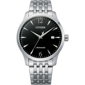 Citizen Meccanico automatico Cassa e bracciale acciaio, quadrante nero