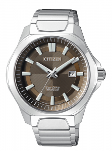 Citizen uomo Supertitanio 1540 Quadrante marrone