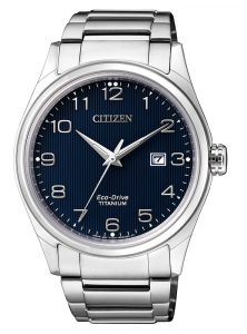 Citizen Uomo Supertitanio 7360 Quadrante blu, numeri arabi