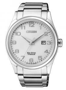 Citizen Uomo Supertitanio 7360 Quadrante bianco, numeri arabi