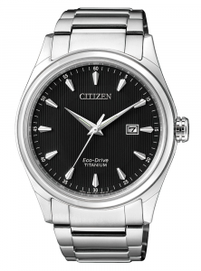 Citizen Uomo Supertitanio 7360 Quadrante nero, indici