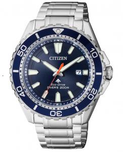 Citizen Diver's 200 Mt. Quadrante blu, bracciale acciaio