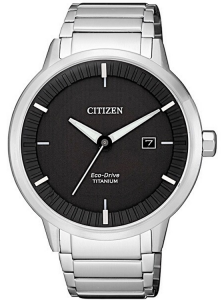 Citizen Modern design - Quadrante nero, Super Titanio PTIC