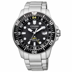 Citizen Citizen Diver's Supertitanio GMT cassa e bracciale Supertitanio, lunetta nera