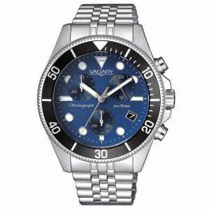 Vagary Aqua39 crono ghiera nera quadrante blu