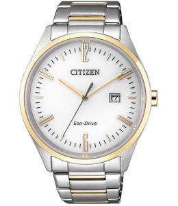 Citizen Joy Cassa e bracciale acciaio I.P. oro, quadrante bianco