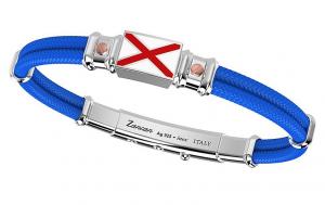 Zancan Bracciale Regata (Doppio Filo, Bandiera nautica, Azzurro)