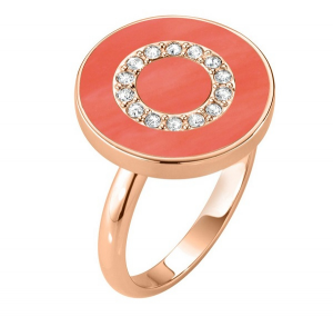 Morellato Anello Perfetta (Argento rosè, pietra color Corallo)