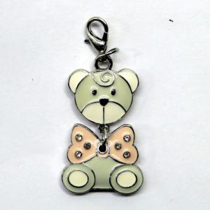 Ciondolo per braccialetti e collane 'orsetto rosa' di Wald