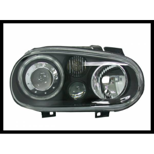 Fanali Anteriori Angel Eyes Volkswagen Golf 4 Black
