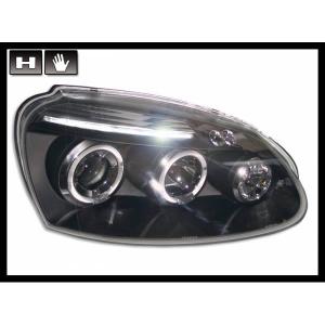 Fanali Anteriori Angel Eyes Volkswagen Golf 5 Black
