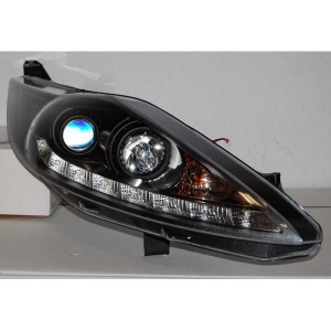 Fari Day Light Ford Fiesta 2009 Black