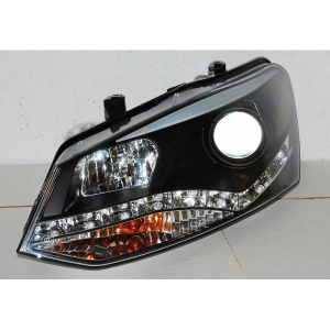 Fanali Day Light Volkswagen Polo '10, Black