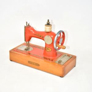 Modellino Macchina Da Cucire Arancione Made In Ussr 25 Cm