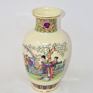 Vaso In Ceramica Artigianele Con Stampa Cinese (difetto)