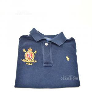 Polo Bambino Ralph Lauren Blu Tg.4 Anni