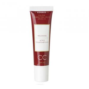 Korres Wild Rose Cream CC Color Correcting Spf30 Medium Shade 30ml