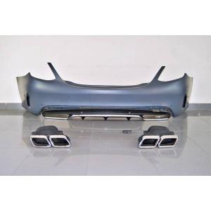 Paraurti Posteriori Mercedes W205 2014-2018 4P Look C63 Terminali di scarico