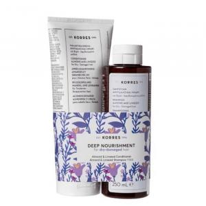 Korres Almond & Linseed Shampoo 250ml Set 2 Parti