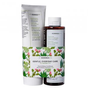 Korres Aloe & Dittany Shampoo 250ml Set 2 Parti