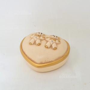 Oggetto Porta Gioie In Ceramica Thun A Forma Di Cuore