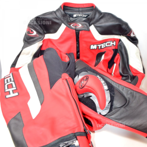 Motorcycle Suit M Tech Tg 44 Woman Red Black Trousers + Jacket