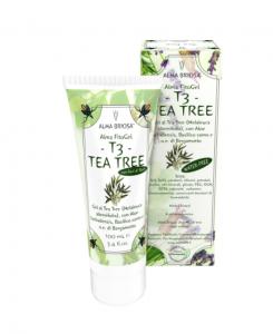 T3 \u2013 TEA TREE \u00a0propriet\u00e0 purificanti,\u00a0disinfettanti\u00a0delle mucose e\u00a0calmanti del prurito.