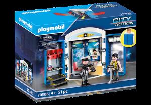 PLAYMOBIL  PLAYBOX STAZIONE DI POLIZIA 70306