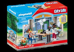 PLAYMOBIL  PLAYBOX CLINICA VETERINARIA 70309