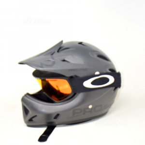 Casco Da Moto Nero Opaco Con Lenti Oakley Pro-tec Taglia M