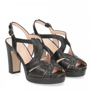 Il Laccio sandalo 3046 pelle nero