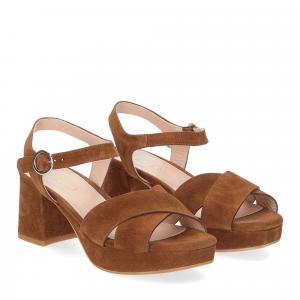 Il Laccio sandalo 6213 camoscio marrone