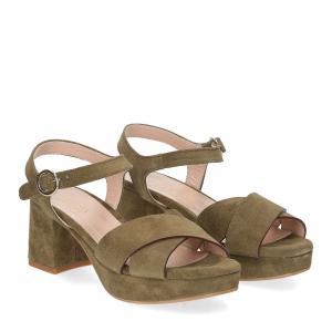 Il Laccio sandalo 6213 camoscio verde