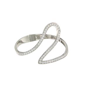Bracciale Cuff in oro bianco e diamanti