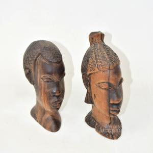 Oggetto In Legno Africano Coppia Lui E Lei Made In Kenya