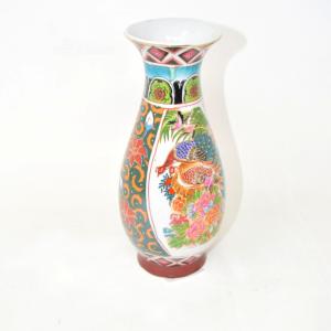 Vasetto In Ceramica Cinese Colorata ,a Ltezza 20 Cm