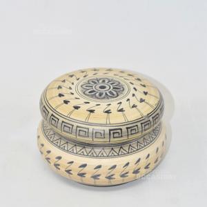 Vasetto In Ceramica Decorato A Mano