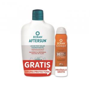 Ecran Aftersun Soothing Moisturizing Milk 400ml + Ecran Sunnique Invisible Mist Spf30 Spray 75ml