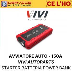STARTER AVVIATORE AUTO PORTATILE - 150A VIVI AUTOPARTS BATTERIA POWER BANK
