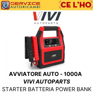 STARTER AVVIATORE AUTO PORTATILE - 1000A VIVI AUTOPARTS BATTERIA POWER BANK